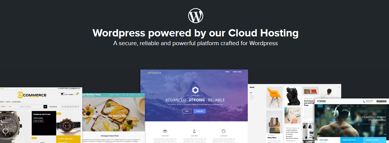 Wordpress powered by our Cloud Hosting